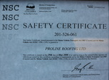 safety roofing company standards