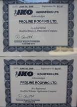 iko certified roofing installation