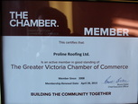 chamber of commerce roofing company victoria bc