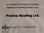 bbb member roofing company proline