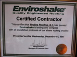 certificed licenced roofing contractor company proline