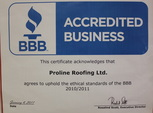 accredited bbb business roofing torch awards