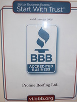 bbb roofing company accredited