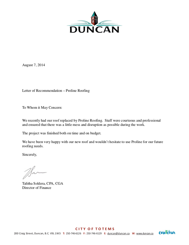 roofing duncan review  company proline