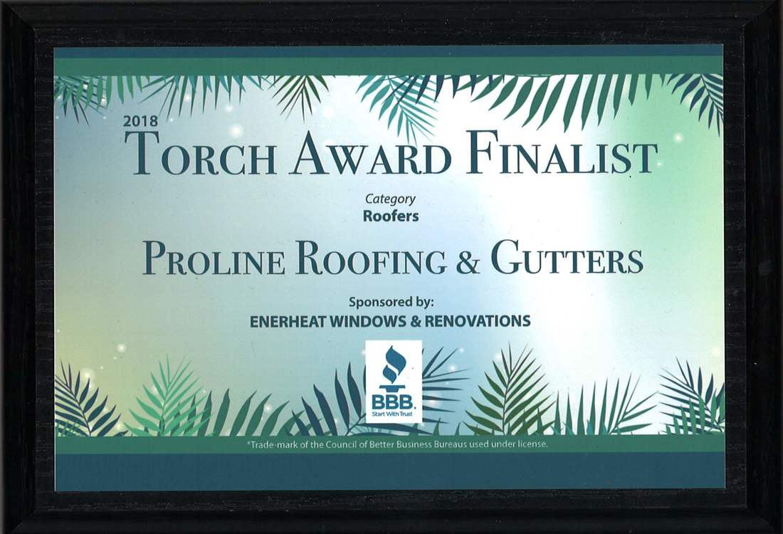 bbb torch award roofing company proline victoria bc